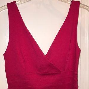 Deep pink bandage dress express size XS
